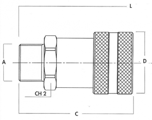 H series 700 bar - Female NPT male